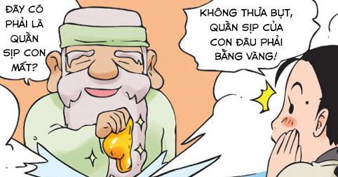 Kim Chi & Củ Cải (bộ mới) phần 260: Chiếc sịp bằng vàng