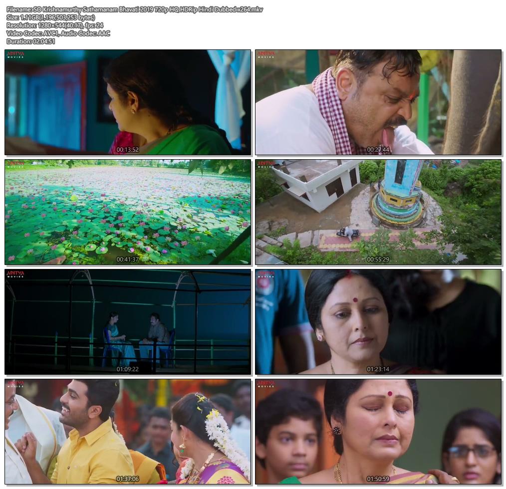 SO Krishnamurthy Sathamanam Bhavati 2019 720p HQ HDRip Hindi Dubbed | 480p 300MB | 100MB HEVC Screenshot