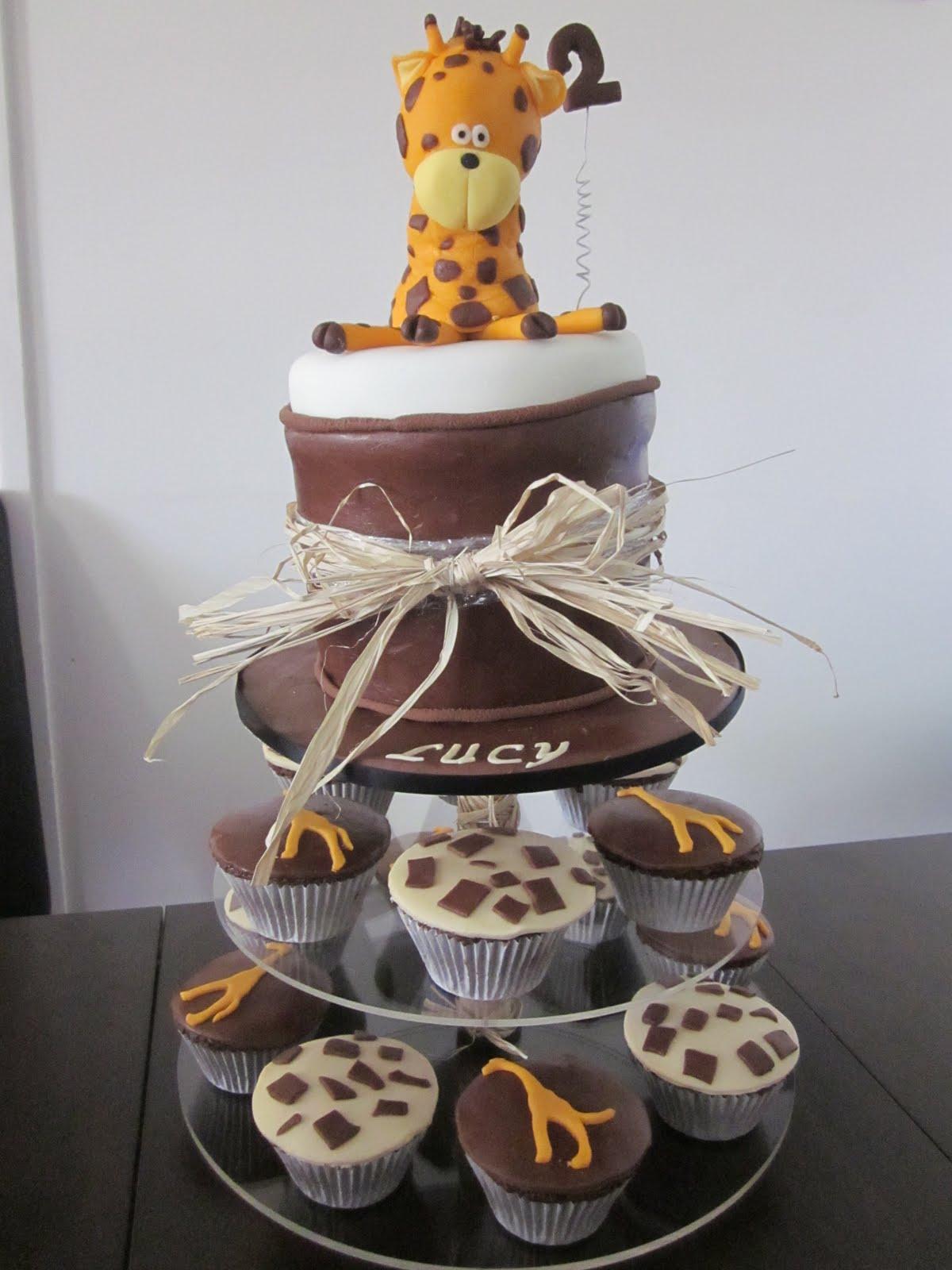 Deb S Cakes And Cupcakes Giraffe 2nd Birthday Cake
