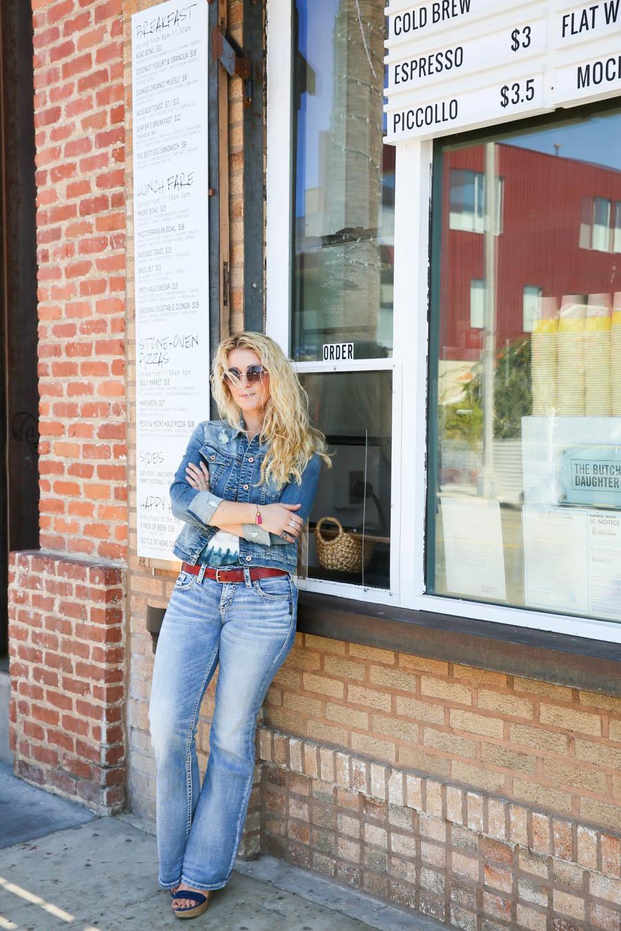80s Baby | 70s Lady | How to Wear Flare Jeans | How to Wear Denim Jeans + Jacket | LA Women's Denim Fashion Blogger