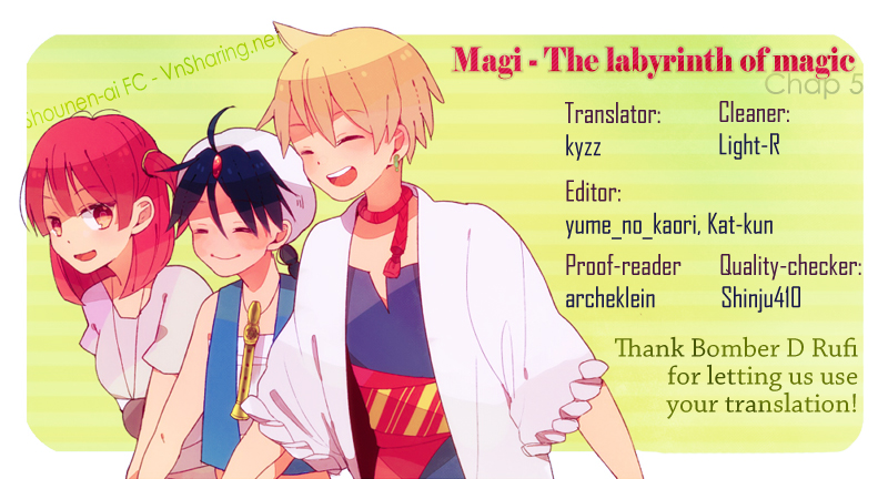 Magi The Labyrinth of magic chapter 5 trang 1