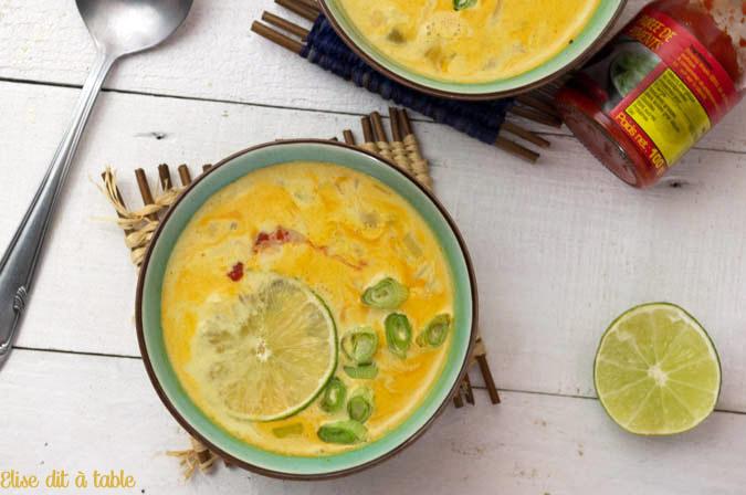 recette Soupe thaï piquante