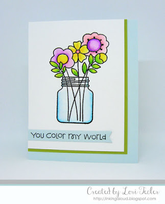You Color My World card-designed by Lori Tecler/Inking Aloud-stamps from Paper Smooches