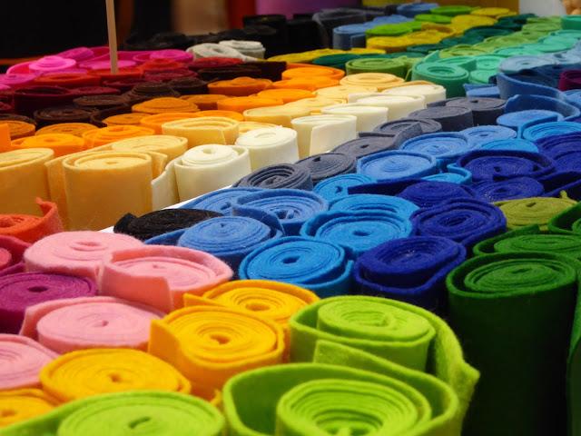 fieltro de colores DIY