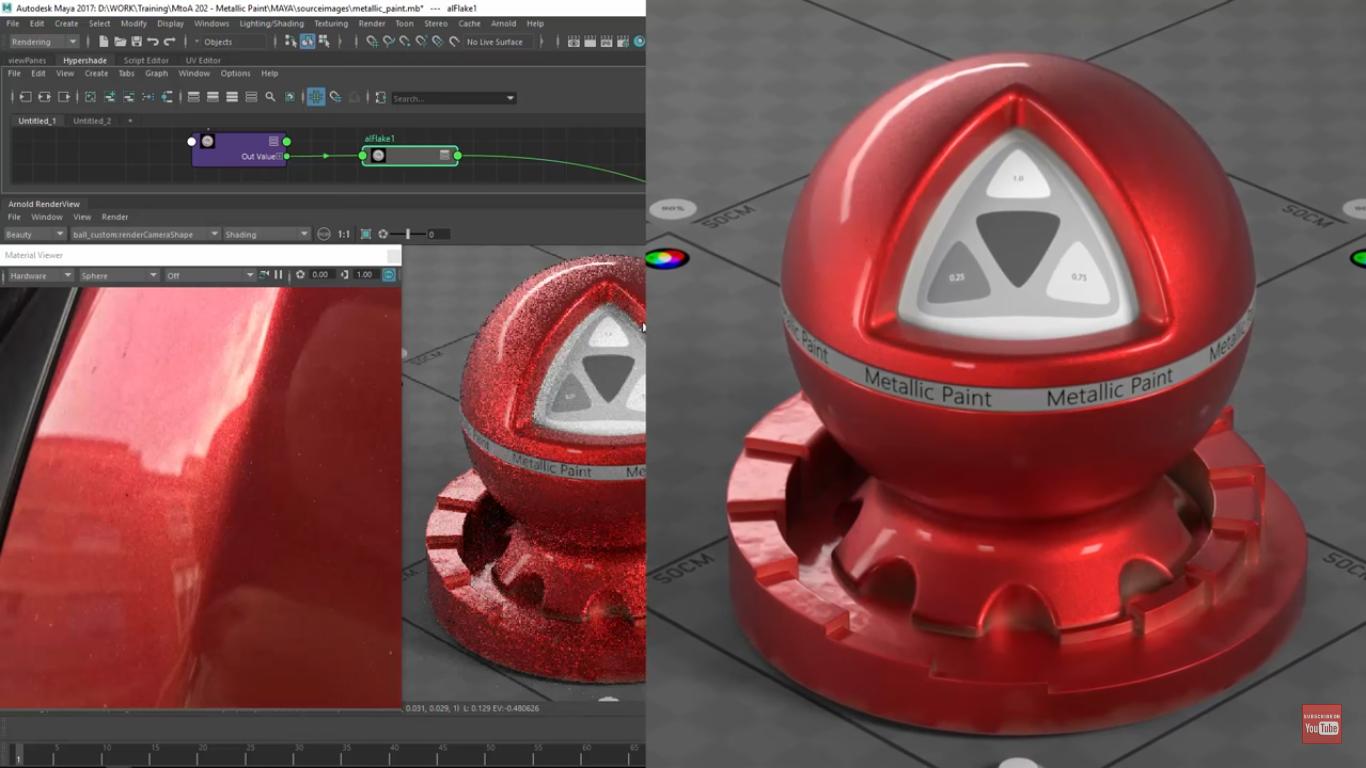 Arnold For Maya || Creating A Metallic Paint Shader | CG
