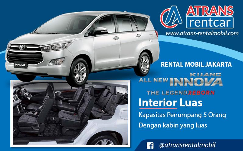 Harga Sewa Mobil Innova Reborn Termurah di Jakarta