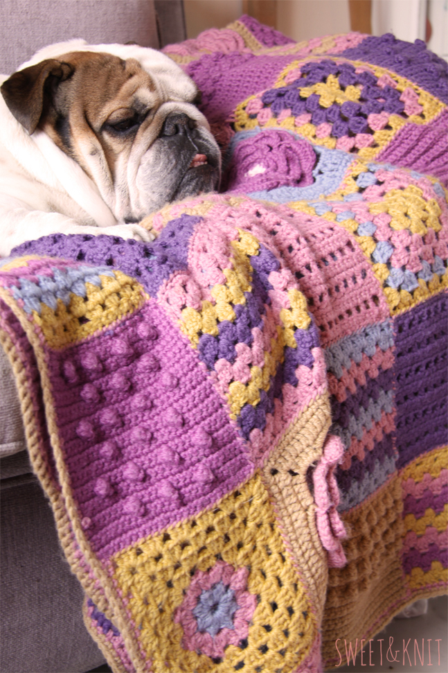 Sweet Amp Knit Manta Crochet Popurri De Muestras