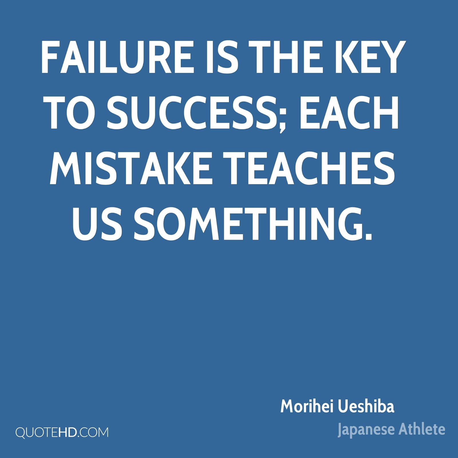 failure is the key to success Failure is expected throughout life, but having the ability to learn from failure is considered a key path to growth learning from failure leads to humility, adaptation, and resiliency unfortunately, most students are taught to fear failure from a young age to combat this trend, educators can emphasize having a growth mindset,.