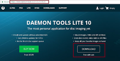 Download DAEMON Tool Lite