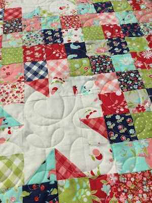 Wendy's Baby Quilt - 'Vintage Picnic' fabric