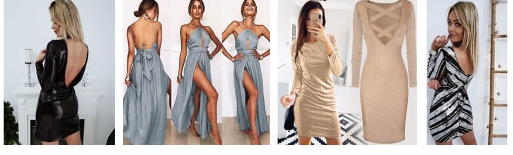 odkryte ramiona sukienki na sylwestra domodi.pl moda damska