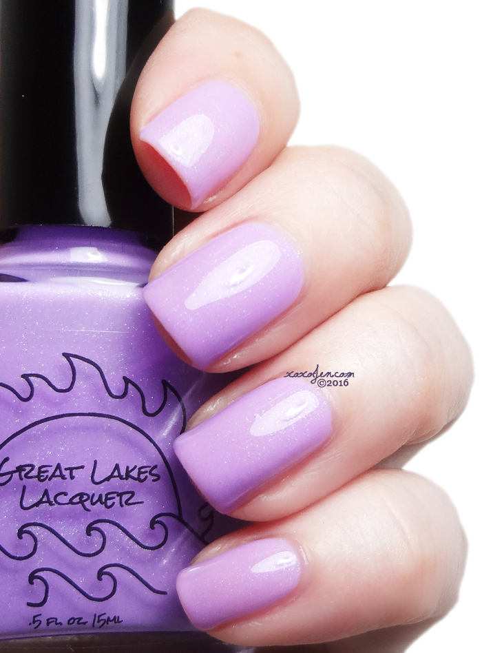 xoxoJen's swatch of Great Lakes Lacquer Lilac Love