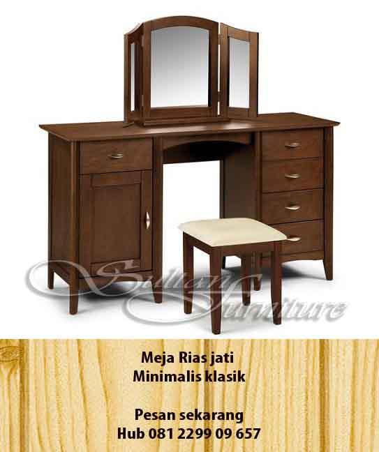 Jual Furniture Minimalis Dressing Table Jati Jepara