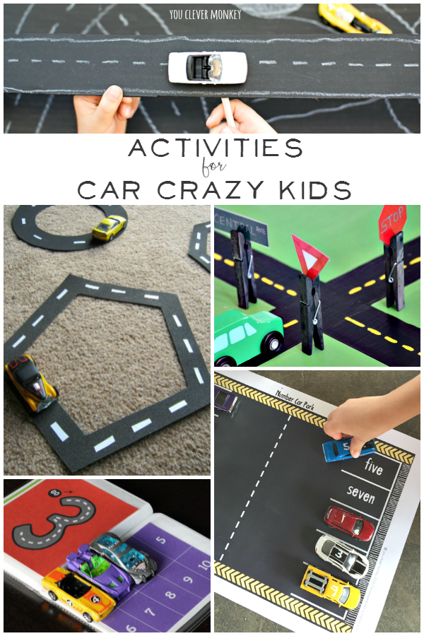 Activities for car crazy kids you clever monkey for Arts and crafts toys for 4 year olds
