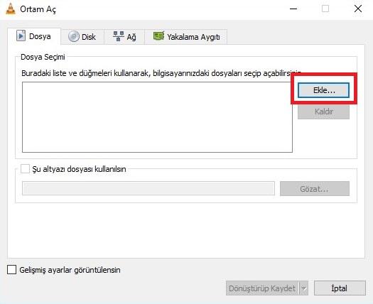 VLC Media Player Kullanarak Videodan MP3 Yapmak