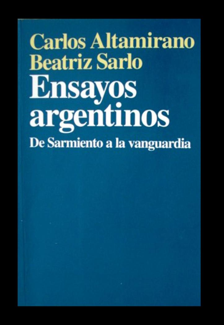 Ensayos argentinos – Carlos Altamirano