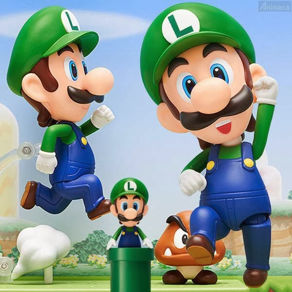 LUIGI NENDOROID FIGURE Super Mario GOOD SMILE COMPANY