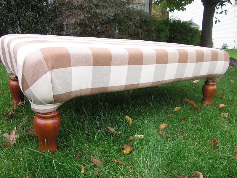 Diy Tutorial Coffee Table Into Upholstered Ottoman Tail