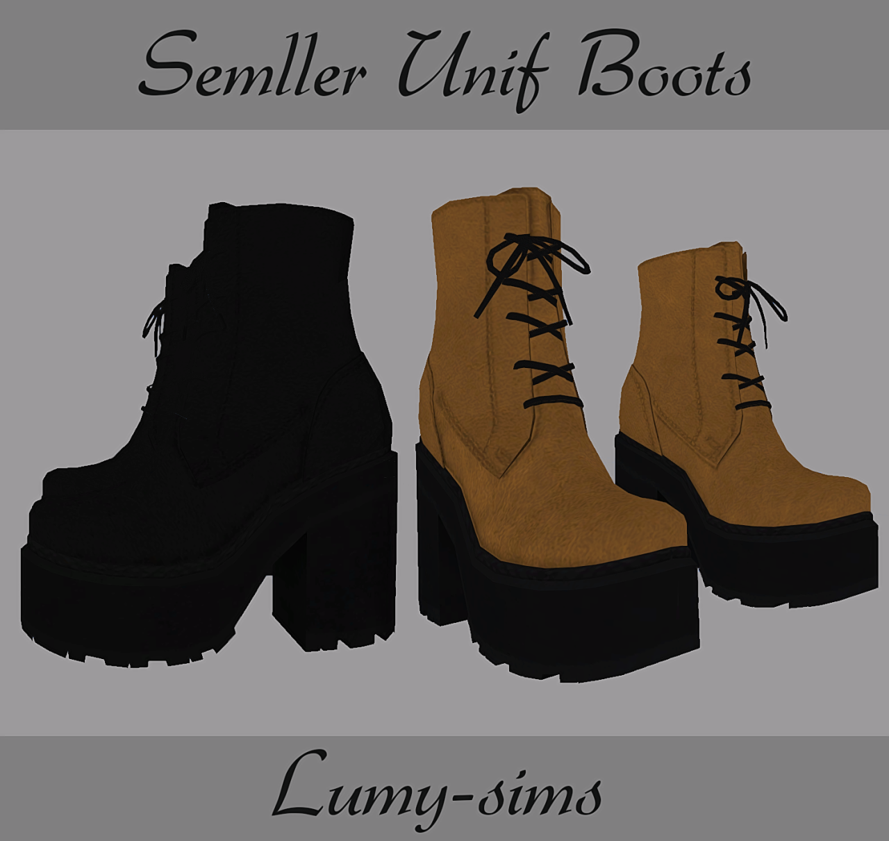 Sims 4 CC's The Best: Boots by Lumy Sims