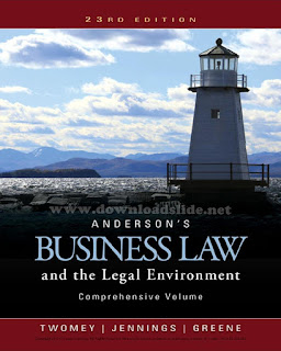 Anderson's Business Law and the Legal Environment 23rd Edition by Twomey