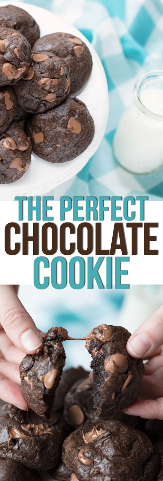 This is THE best chocolate cookie recipe. It makes cookies that are soft, thick, chewy and packed with decadent chocolate flavor. The best cookie recipe of all time!