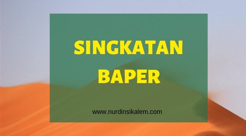Singkatan baper