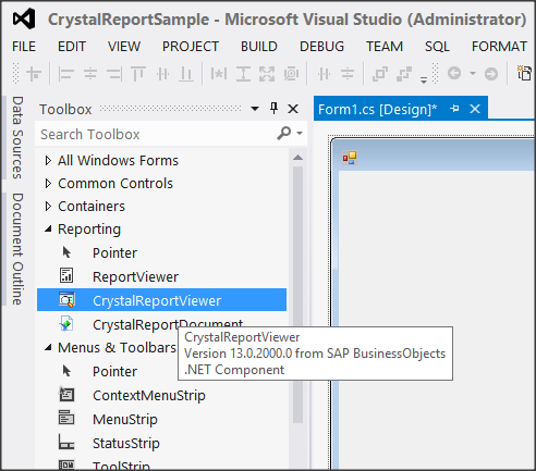 Happy Coding Box: Create Sample Crystal Reports in Visual