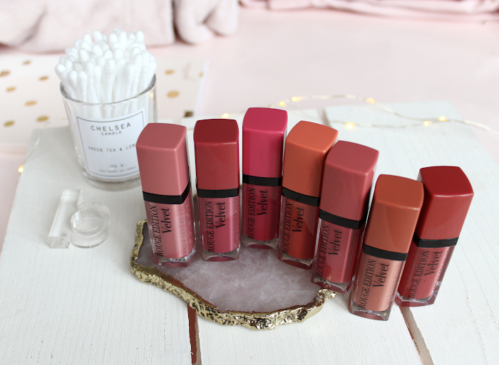 Bourjois Rouge edition Velvet review - 7 shades