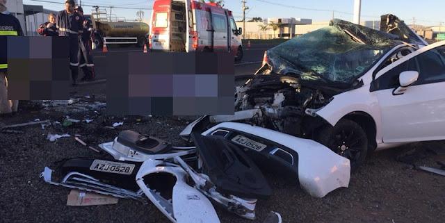 Quatro pessoas morrem em acidente na PR-444 na manhã deste domingo!