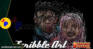 picsay edit foto scibble art