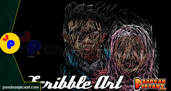 picsay edit foto scibble art