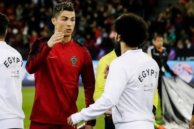 Ronaldo ready to share the Same Dressing room with Mohammed Salah
