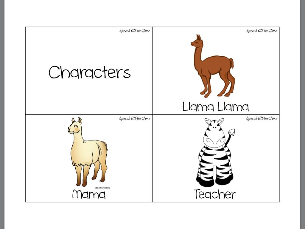 Getting Speechie With A Good Book Llama Llama Misses Mama