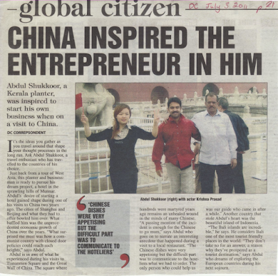 Keralite Doing Business in China