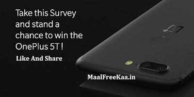 free OnePlus 5T Smartphone