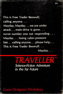 Cover of Traveller, a role-playing game published by Game Designers' Workshop.