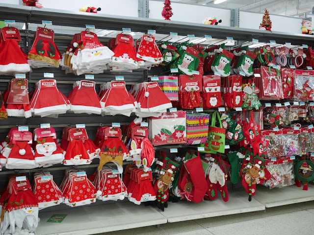 Christmas items for sale at a Walmart in Zhongshan, China