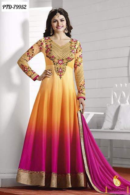 Prachi Desai Salwar Kameez In Anarkali Style Online Shopping With Free Shipping and COD In India