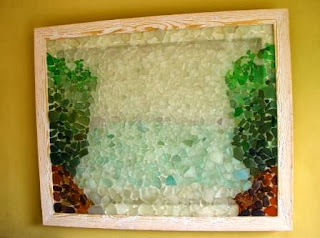 Sea glass picture of a Jersey Beach