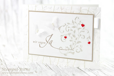 Hochzeitskarte; Einladungskarte hochzeit; Hochzeit Stempel-Biene; Hochzeitsbasteleien; Stampin`Up Auf den ersten Blick