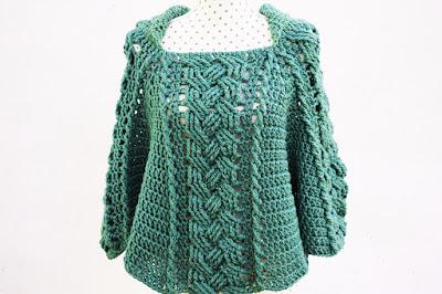 Imagen del Poncho verde a crochet por Majovel crochet