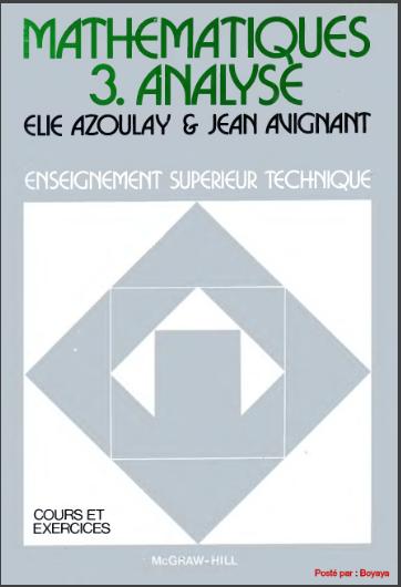 Livre : Mathematiques 3.Analyse - Élie Azoulay