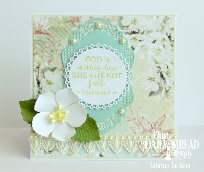 Our Daily Bread Designs Paper Collection: Romantic Roses, Stamp Set:  God Verses 2, Custom Dies:  Filigree Circles, Roses, Pretty Posies (leaves), Vintage Borders