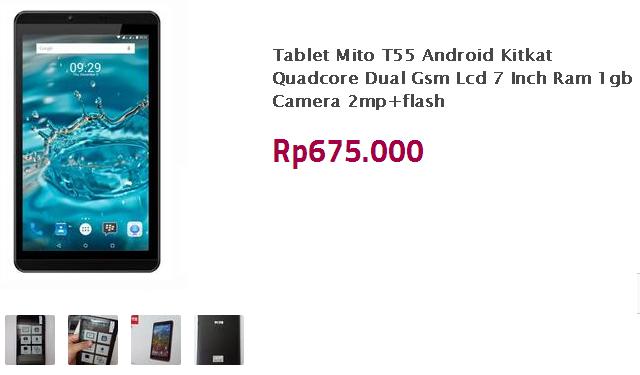 Mito T55 - Tablet Murah 600 Ribuan Ram 1GB Bisa Telpon Dan SMS