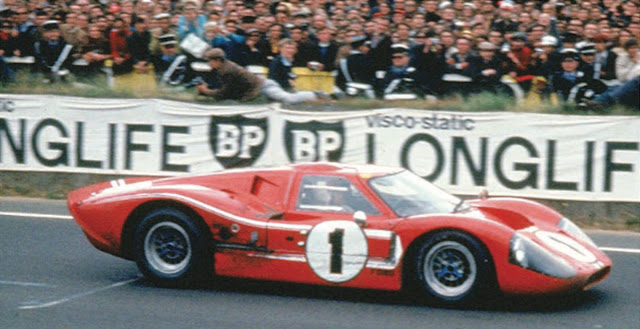 Ford Mk IV winning at Le Mans 1967.  Photo Courtesy of All American Racers