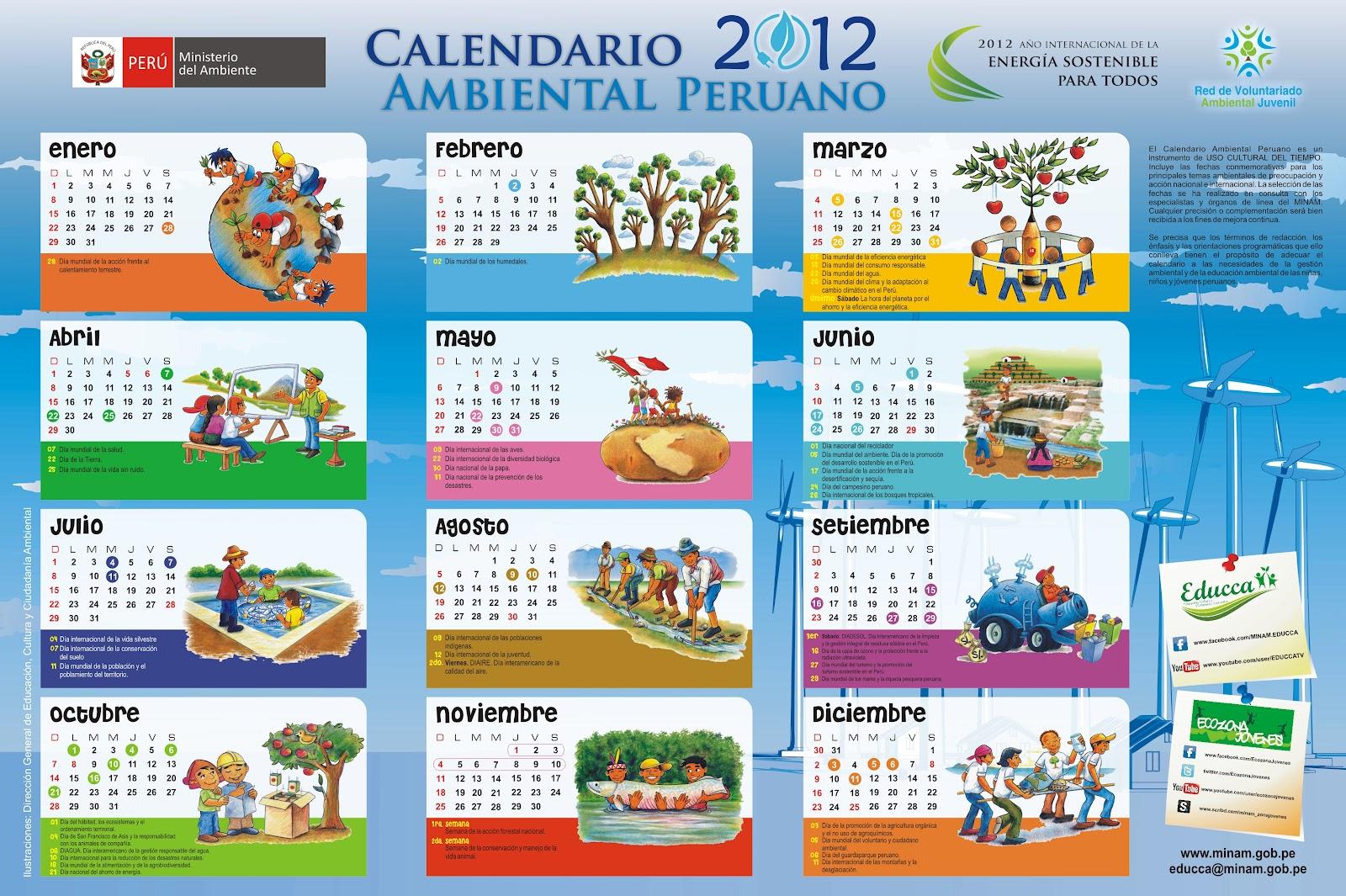c27dc2720 CULTURA AMBIENTAL  CALENDARIO AMBIENTAL 2012