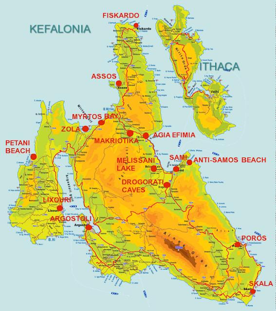 Regiões de Cefalônia