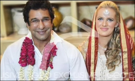 Sports: Wasim Akram ties the knot with Shaniera Thompson | 468 x 282 jpeg 32kB