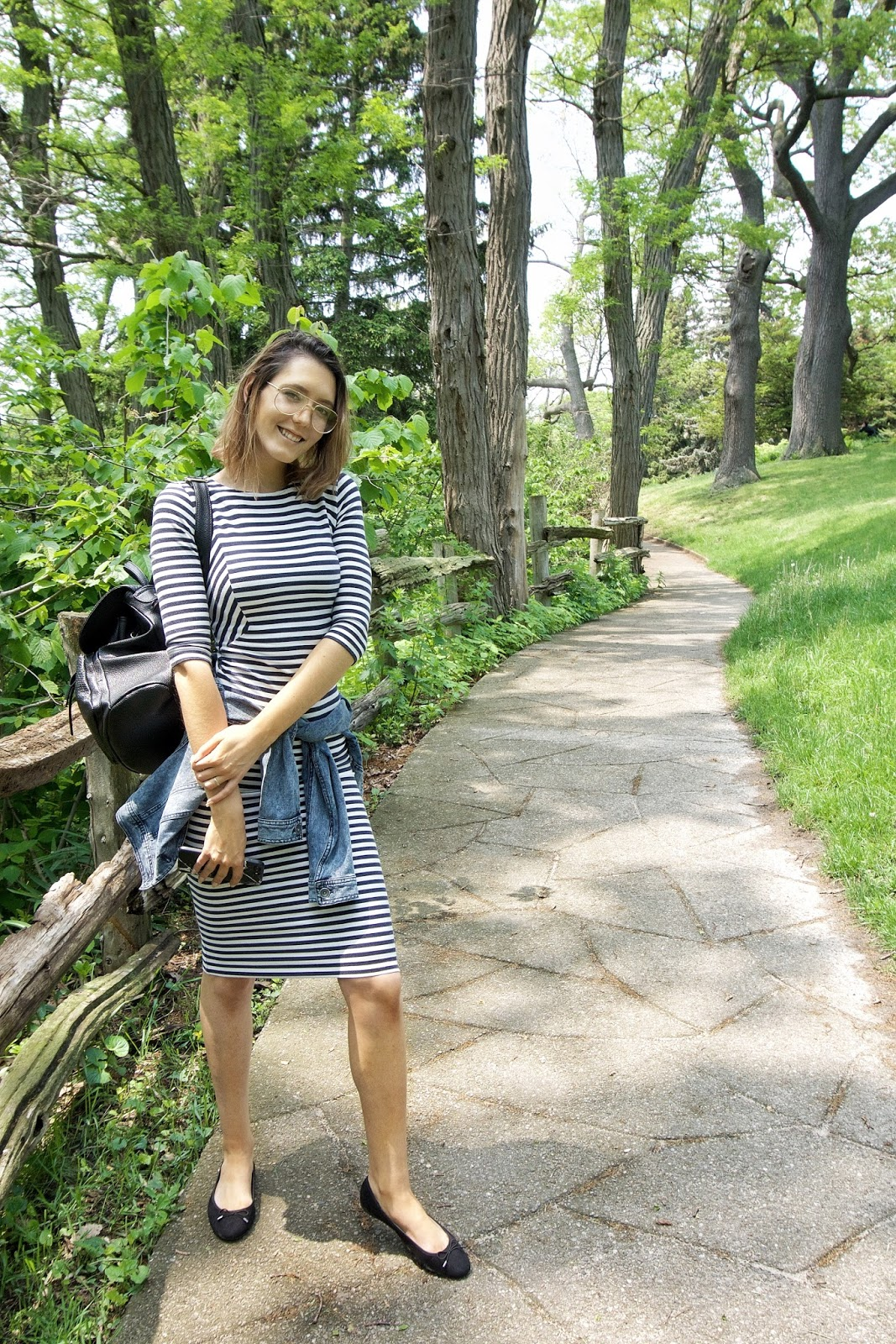 Midi Striped Dress outfit