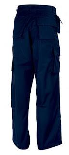 Pantalón Uniforme de Trabajo Resistente Multibolsillos de color Azul marino - RUSSEL